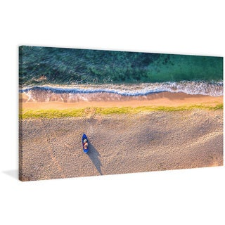Marmont Hill - 'One Canoe' Painting Print on Wrapped Canvas