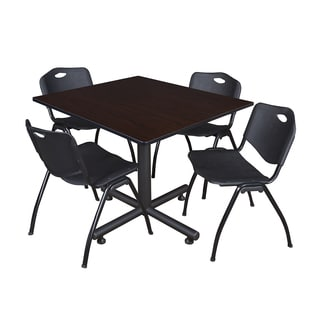 Regency Seating Kobe Laminate 48-inch Square Breakroom Table and Chairs Set