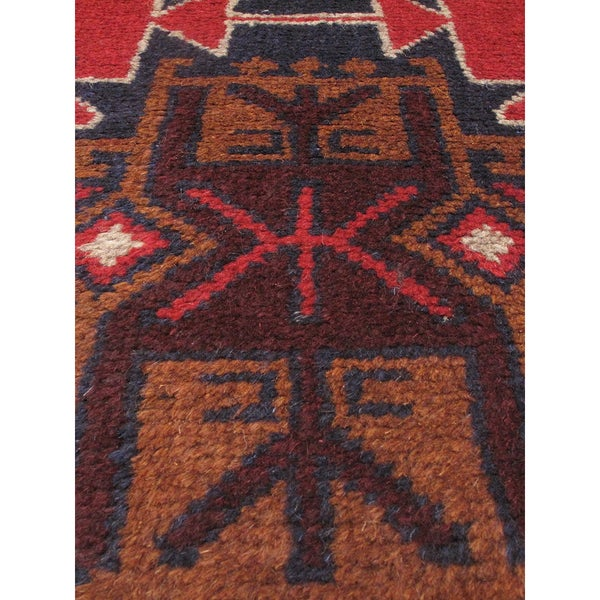 eCarpetGallery Bahor Red Wool Hand-knotted Oriental Area Rug (3'8 x 6'5)