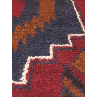 eCarpetGallery Red Wool Hand-knotted Kazak Area Rug (3'4 x 6'2)