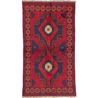 Hand-knotted eCarpetGallery Kazak Red Wool Rug (3' x 6')