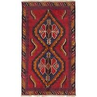 eCarpetGallery Kazak Red Wool Hand-Knotted Rug (3'5 x 5'9)