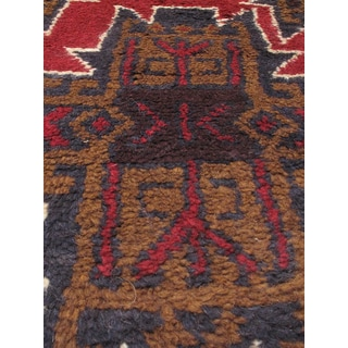 eCarpetGallery Bahor Brown/Red Wool Hand-knotted Rug (3'3 x 6'2)