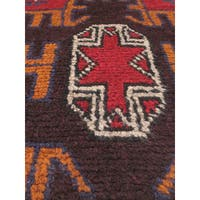 eCarpetGallery Bahor Red Hand-knotted Wool Rug (3' x 6')