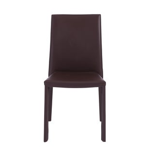 Hasina Brown Steel Stacking Side Chair (Set of 4)