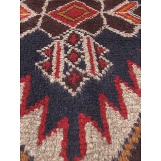 eCarpetGallery Multicolored Wool Hand-knotted Kazak Rug (3'5 x 6'1)