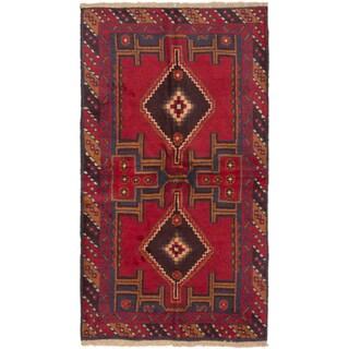 eCarpetGallery Kazak Red Wool Hand-Knotted Rug (3'5 x 6'2)