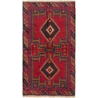 eCarpetGallery Kazak Red Wool Hand-Knotted Rug (3'5 x 6'2)