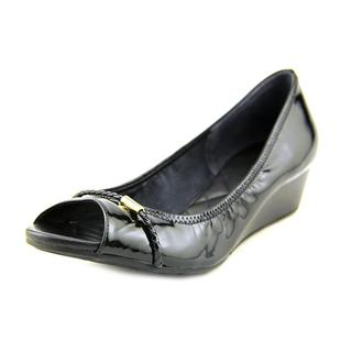 Cole Haan Women's Tali Ot Wedge 40 Black Patent Leather Dress Shoes