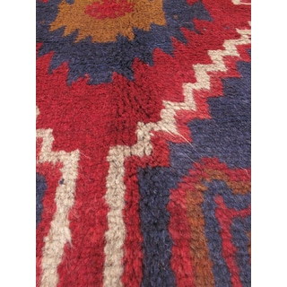 eCarpetGallery Kazak Red Hand-knotted Wool Rug (3'6 x 6'4)