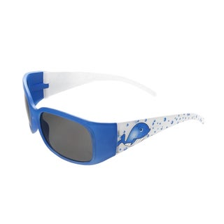 Hot Optix Children's Zoo Collection Blue/White Plastic Whale Sunglasses