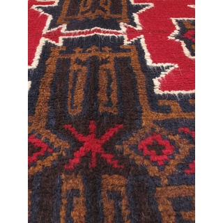 eCarpetGallery Bahor Red Wool Hand-knotted Oriental Area Rug (3'4 x 6'3)