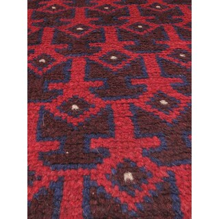 eCarpetGallery Herati Red Wool Hand-knotted Oriental Area Rug (3'8 x 6'6)