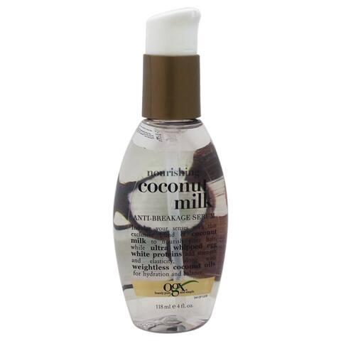 Nourishing Coconut Milk Anti-Breakage Serum Organix 4-ounce Serum