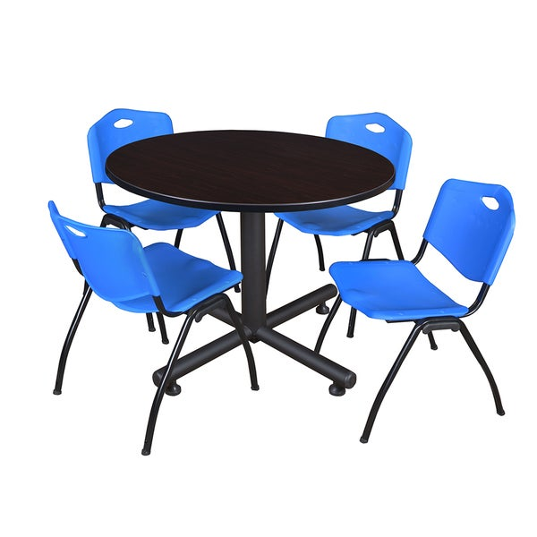 Regency Seating Kobe 48 Inch Round Breakroom Table And 4