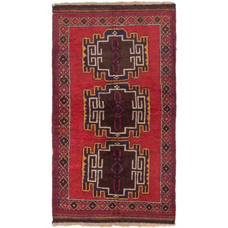 eCarpetGallery Kazak Red Wool Hand-knotted Rug (3'6 x 6')