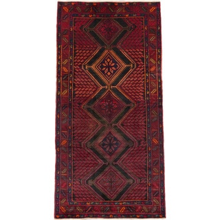 eCarpetGallery Black/Red Wool Hand-knotted Konya Anatolian Rug (5'1 x 10'3)