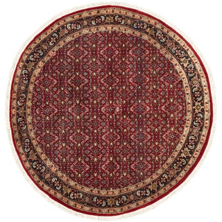 eCarpetGallery Hand-knotted Royal Mahal Red Wool Area Rug (6'6 x 6'6)