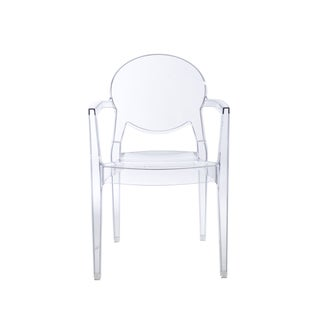 Igloo Transparent Polycarbonate Stacking Arm Chairs (Set of 4)