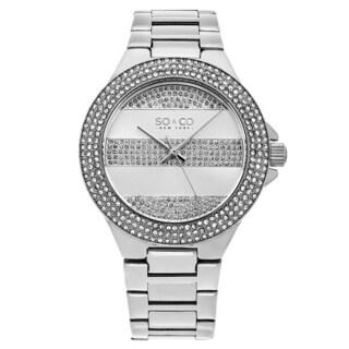 SO&CO New York Women's SoHo Satinless Steel Link Bracelet Watch