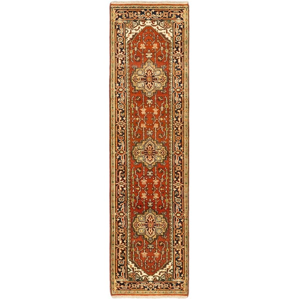 """ECARPETGALLERY Hand-knotted Serapi Heritage Copper Wool Rug - 2'7"""" x 9'10"""" Runner. Opens flyout."""