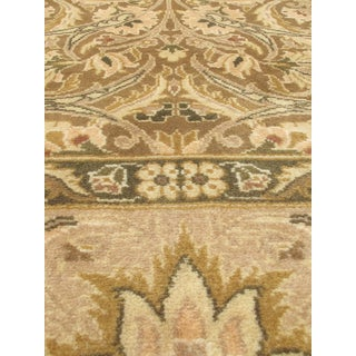 Hand-knotted Pako Persian Brown/ Green Wool/ Cotton Rug (4' x 6')