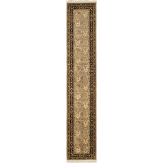 eCarpetGallery Hand-knotted Pako Persian 18/20 Grey/Ivory Wool Rug (2'7 x 13'10)