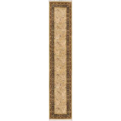 ECARPETGALLERY Hand-knotted Pako Persian Beige, Grey Wool Rug - 2'6 x 13'1
