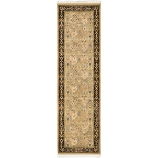 eCarpetGallery Pako Persian 18/20 Grey/Ivory Hand-knotted Wool Rug (2'7 x 9'0)