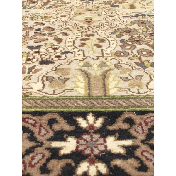 eCarpetGallery Hand-knotted Pako Persian 18/20 Blue/Grey/Wool Rug (2'7 x 12'1)