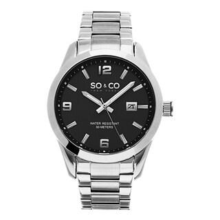 SO&CO New York Men's Stainless Steel Quartz Madison Link Bracelet Watch