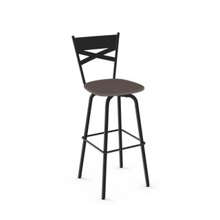 Clay Alder Home Kane Swivel Back Metal Modern Counter Stool (2 options available)