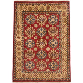 eCarpetGallery Hand-knotted Finest Gazni Red Wool Rug (4'1 x 5'9)