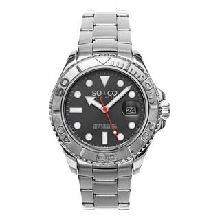 So & Co New York Men's Stainless Steel Quartz Yacht Timer Watch