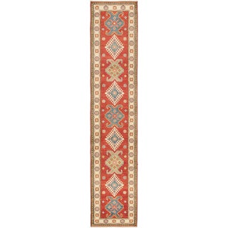 eCarpetGallery Hand-knotted Finest Gazni Blue/Red Wool Rug (2'9 x 13'1)