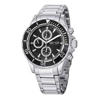 SO&CO New York Men's Quartz Yacht Timer Stainless Steel Link Bracelet Watch