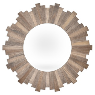 Stockholm Natural Wood Circular Mirror