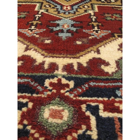 """ECARPETGALLERY Hand-knotted Serapi Heritage Copper Wool Rug - 2'7"""" x 19'7"""" Runner"""