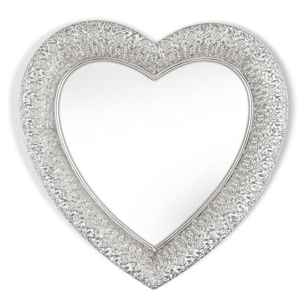 Shop Marrakesh Silver Heart Shaped Metal Mirror Free