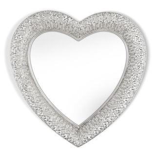 Marrakesh Silver Heart-shaped Metal Mirror
