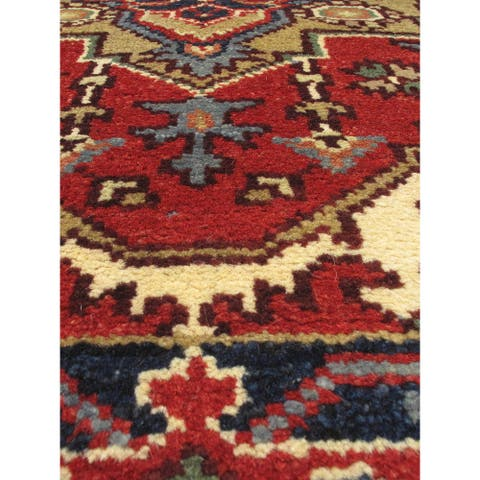 """ECARPETGALLERY Hand-knotted Serapi Heritage Copper Wool Rug - 2'8"""" x 19'9"""" Runner"""