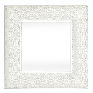 Selections by Chaumont Marrakesh White Metal Square Mirror