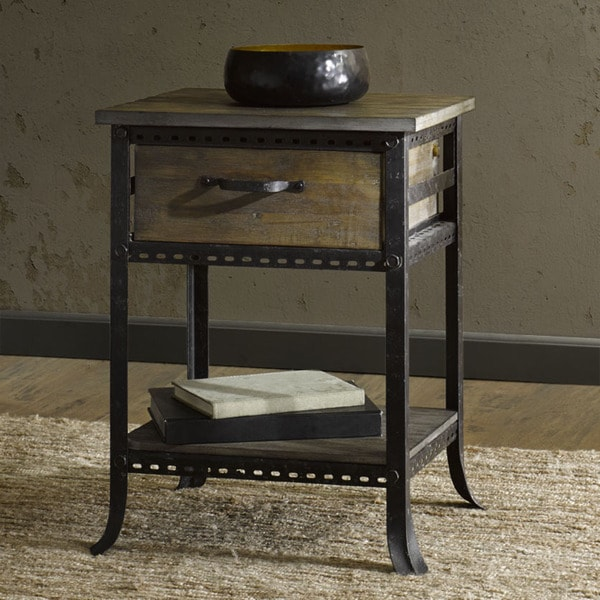 Madison park ryder grey end table with drawer free for Table 52 parking