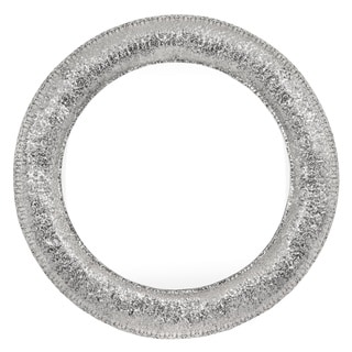 Selections by Chaumont Marrakesh Silver Metal Round Mirror