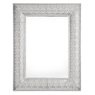 Marrakesh Silver Metal/Glass Rectangular Mirror