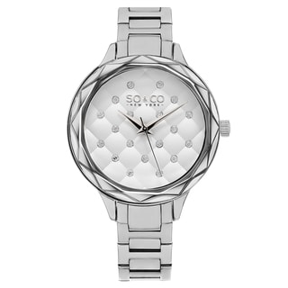 SO&CO New York Women's Madison Stainless-steel Crystal Quartz Link Bracelet Watch