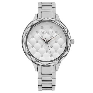 SO&CO New York Women's Madison Stainless-steel Crystal Quartz Link Bracelet Watch