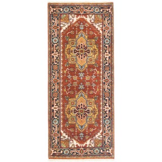 eCarpetGallery Serapi Heritage Brown Wool/Cotton Hand-knotted Runner Rug (2'6 x 5'11)