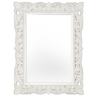 Selections of Chaumont Firenze Matte Stone White Baroque-style Mirror