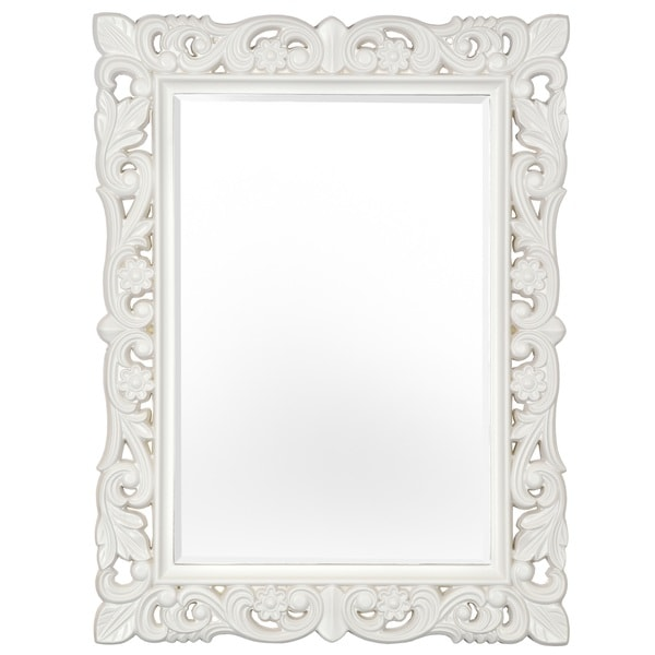 Selections of chaumont firenze matte stone white baroque for White baroque style mirror